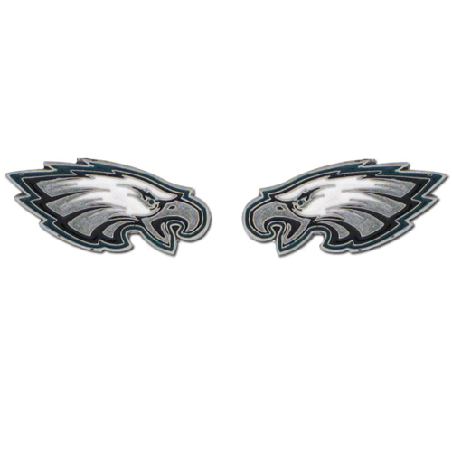 Studded NFL Earrings - Philadelphia Eagles - Our studded NFL team logo earrings are carved in 3D detail and enameled in team colors. Check out our entire line of licensed NFL  earrings!   Officially licensed NFL product Licensee: Siskiyou Buckle .com
