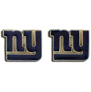 Studded NFL Earrings - New York Giants - Our studded NFL team logo earrings are carved in 3D detail and enameled in team colors. Check out our entire line of licensed NFL  earrings! Officially licensed NFL product Licensee: Siskiyou Buckle .com