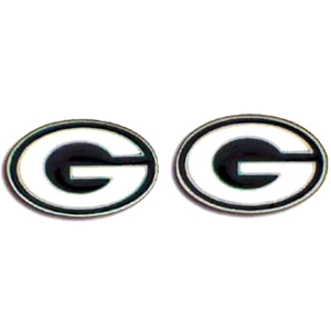 Studded NFL Earrings - Green Bay Packers - Our studded NFL team logo earrings are carved in 3D detail and enameled in team colors. Check out our entire line of licensed NFL  earrings! Officially licensed NFL product Licensee: Siskiyou Buckle Thank you for visiting CrazedOutSports.com