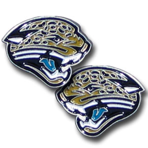 Studded NFL Earrings - Jacksonville Jaguars - Our studded NFL team logo earrings are carved in 3D detail and enameled in team colors. Check out our entire line of licensed NFL  earrings! Officially licensed NFL product Licensee: Siskiyou Buckle Thank you for visiting CrazedOutSports.com