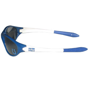 Colts Kid's Sunglasses - Time for the kid's to get in the game! Our NFL kid's sunglasses are a great way to share in your love of the game. The lenses are UV400 and provide 100% protection against UVA and UVB radiation. 100% Lead Free. Officially licensed NFL product Licensee: Siskiyou Buckle Thank you for visiting CrazedOutSports.com
