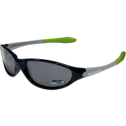 NFL Kid's Sunglasses - Seattle Seahawks - Time for the kid's to get in the game! Our NFL kid's sunglasses are a great way to share your love of the game. The lenses are UV400 and provide 100% protection against UVA and UVB radiation. 100% Lead Free. Officially licensed NFL product Licensee: Siskiyou Buckle Thank you for visiting CrazedOutSports.com