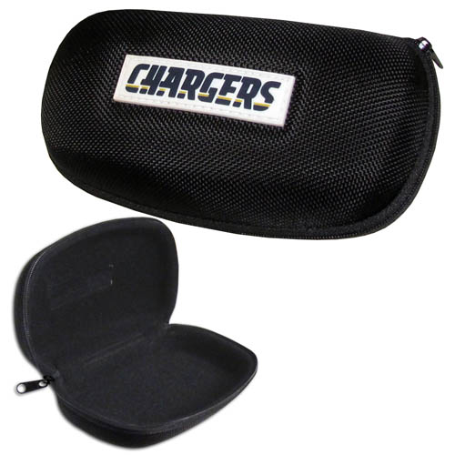 San Diego Chargers Zippered Sunglass Case - San Diego Chargers NFL hard sunglass cases are a great way to protect your sunglasses. The San Diego Chargers hard molded shell protects the glasses from being crushed or damaged from dropping. The zippered closure prevents accidental opening and the soft lining protects the lenses from scratches. Officially licensed NFL product Licensee: Siskiyou Buckle .com