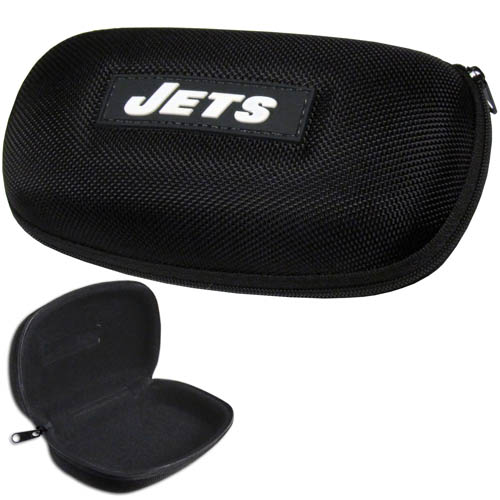 New York Jets Zippered Sunglass Case - New York Jets NFL hard sunglass cases are a great way to protect your sunglasses. The New York Jets hard molded shell protects the glasses from being crushed or damaged from dropping. The zippered closure prevents accidental opening and the soft lining protects the lenses from scratches. Officially licensed NFL product Licensee: Siskiyou Buckle Thank you for visiting CrazedOutSports.com