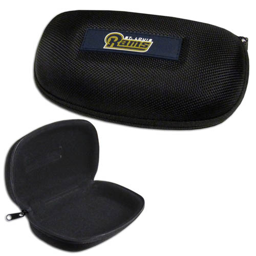 Los Angeles Rams Zippered Sunglass Case - Los Angeles Rams NFL hard sunglass cases are a great way to protect your sunglasses. The Los Angeles Rams hard molded shell protects the glasses from being crushed or damaged from dropping. The zippered closure prevents accidental opening and the soft lining protects the lenses from scratches. Officially licensed NFL product Licensee: Siskiyou Buckle .com