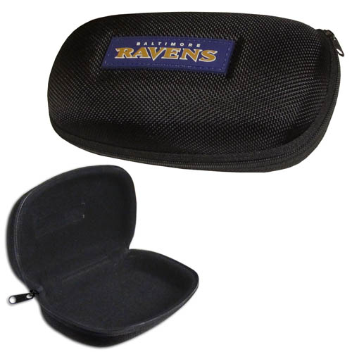 Baltimore Ravens Zippered Sunglass Case - Baltimore Ravens NFL hard sunglass cases are a great way to protect your Baltimore Ravens sunglasses. The hard molded shell protects the glasses from being crushed or damaged from dropping. The zippered closure prevents accidental opening and the soft lining protects the lenses from scratches. Officially licensed NFL product Licensee: Siskiyou Buckle .com