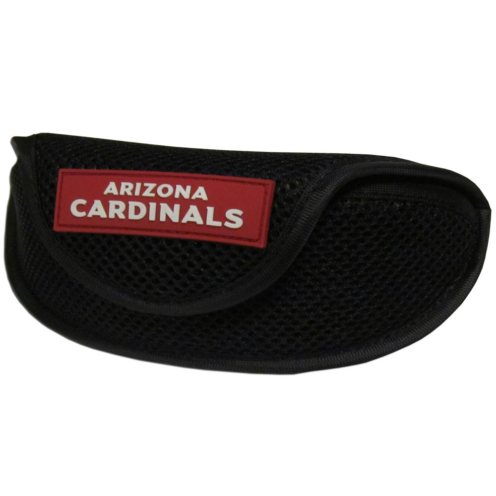 Arizona Cardinals Sport Sunglass Case - Our officially licensed soft sport glasses case has microfiber interior to prevent scratches and a velcro closure to secure the glasses. The sporty mesh material and colorful Arizona Cardinals logo finishes off this fashionable and functional case.