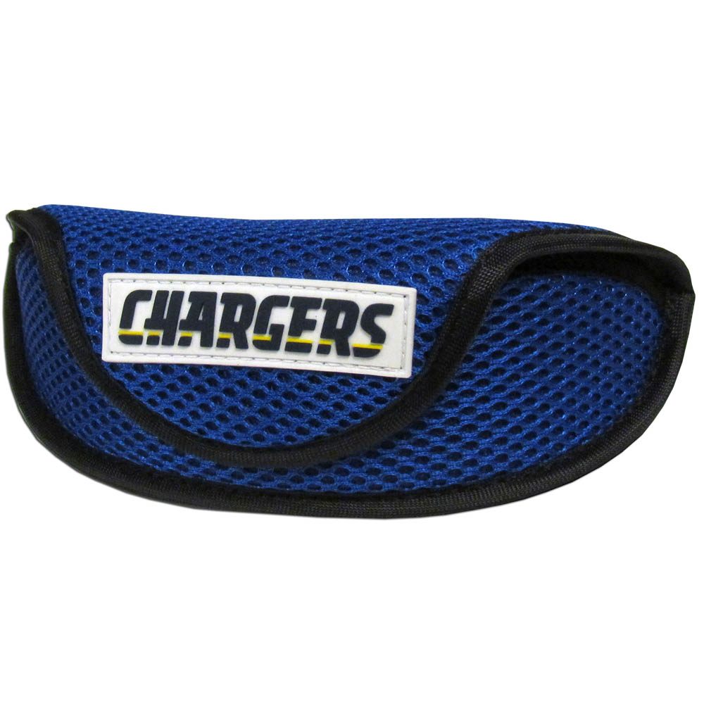 Los Angeles Chargers Sport Sunglass Case - Our officially licensed soft sport glasses case has microfiber interior to prevent scratches and a velcro closure to secure the glasses. The sporty mesh material and colorful Los Angeles Chargers logo finishes off this fashionable and functional case.