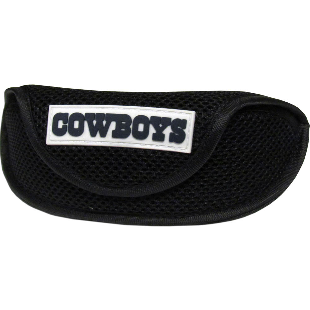 Dallas Cowboys Sport Sunglass Case - Our officially licensed soft sport glasses case has microfiber interior to prevent scratches and a velcro closure to secure the glasses. The sporty mesh material and colorful Dallas Cowboys logo finishes off this fashionable and functional case.