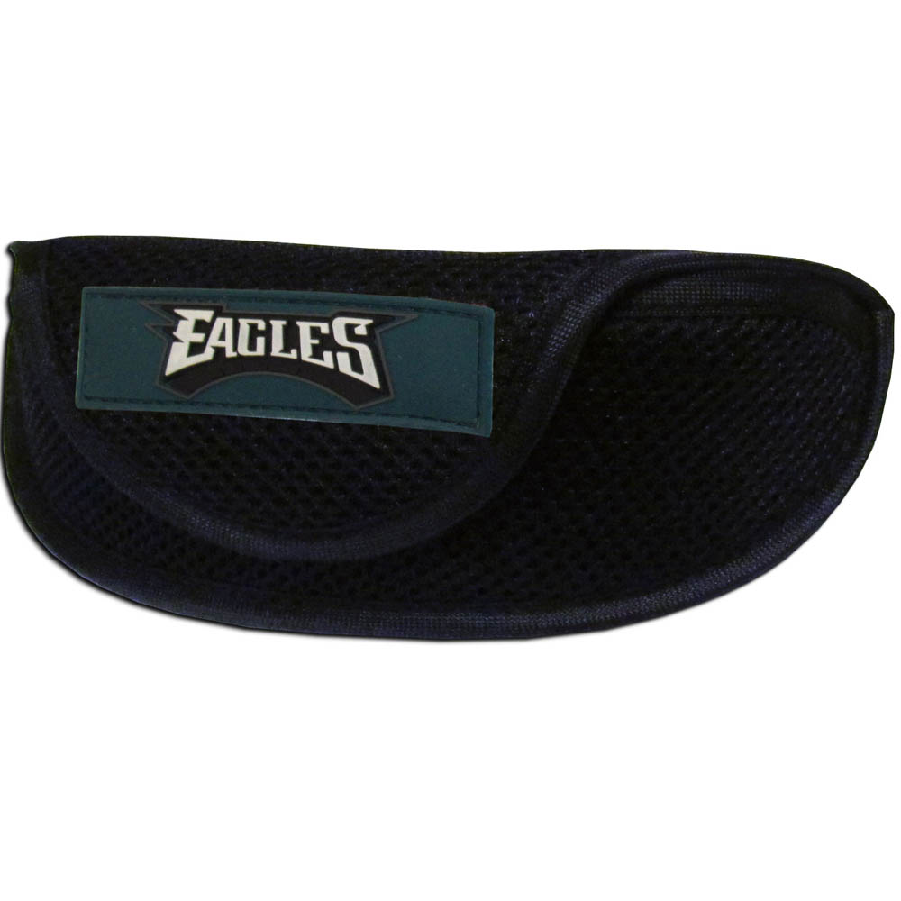Philadelphia Eagles Sport Sunglass Case - Our officially licensed soft sport glasses case has microfiber interior to prevent scratches and a velcro closure to secure the glasses. The sporty mesh material and colorful Philadelphia Eagles logo finishes off this fashionable and functional case.