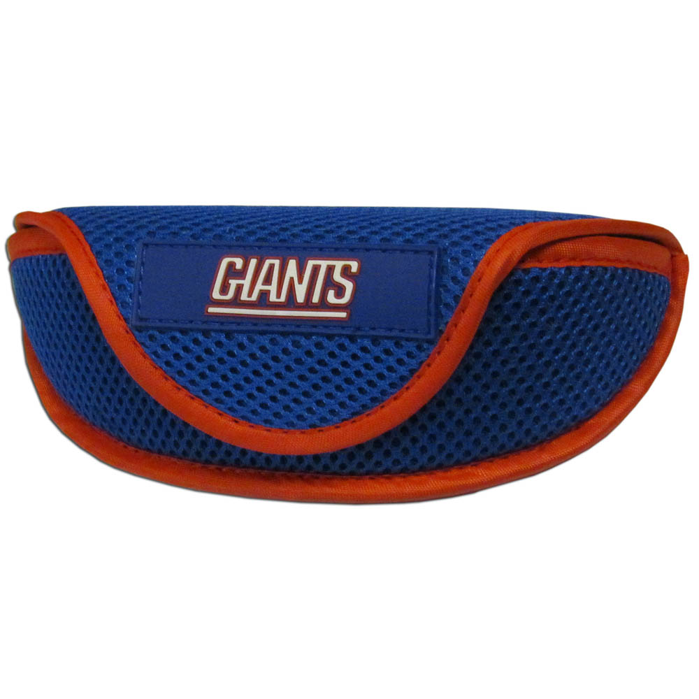 New York Giants Sport Sunglass Case - Our officially licensed soft sport glasses case has microfiber interior to prevent scratches and a velcro closure to secure the glasses. The sporty mesh material and colorful New York Giants logo finishes off this fashionable and functional case.