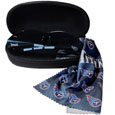 Tennessee Titans Sunglass & Accessory Set - You'll never miss the game winning play when you have your Tennessee Titans sunglass kit! Each kit comes with a hard shell zip case, a cleaning cloth and Siskiyou's popular wrap sunglasses!  The wrap sunglasses have the team logo screen printed on one side of the frame and the team name on the other side of the frame. The sunglass arms feature rubber team colored accents. Maximum UVA/UVB protection. The cleaning cloth features team logo and name in crisp clear graphics and helps keep your sunglasses smudge free. The kit also comes with a hard shell case that is lined with a microfiber interior to help keep your glasses scratch-free. Officially licensed NFL product Licensee: Siskiyou Buckle .com
