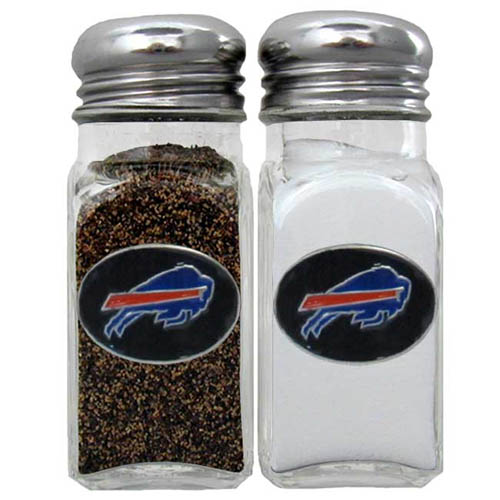 Salt & Pepper Shaker - Buffalo Bills - Our NFL salt and pepper set is a great addition to any tailgating event or backyard BBQ. Officially licensed NFL product Licensee: Siskiyou Buckle Thank you for visiting CrazedOutSports.com