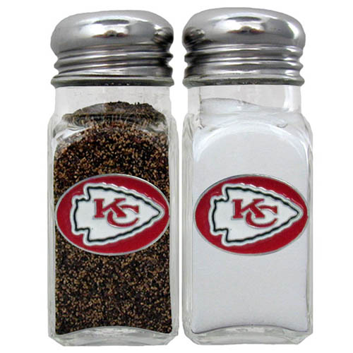Salt & Pepper Shaker - Kansas City Chiefs - Our NFL salt and pepper set is a great addition to any tailgating event or backyard BBQ. Officially licensed NFL product Licensee: Siskiyou Buckle Thank you for visiting CrazedOutSports.com
