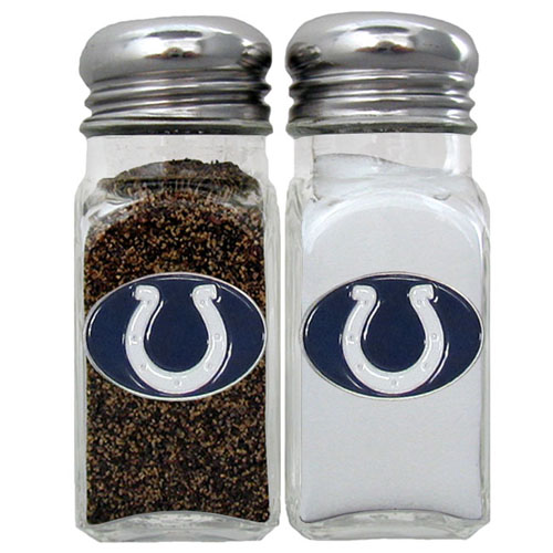 Salt & Pepper Shaker - Indianapolis Colts - Our NFL salt and pepper set is a great addition to any tailgating event or backyard BBQ. Officially licensed NFL product Licensee: Siskiyou Buckle Thank you for visiting CrazedOutSports.com