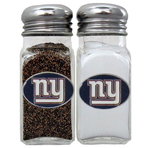 Salt and Pepper Shaker - New York Giants - Our NFL salt and pepper set is a great addition to any tailgating event or backyard BBQ. Officially licensed NFL product Licensee: Siskiyou Buckle .com