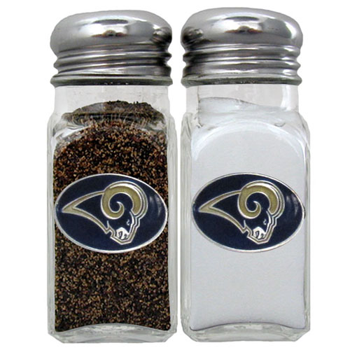 Salt & Pepper Shaker - St. Louis Rams - Our NFL salt and pepper set is a great addition to any tailgating event or backyard BBQ. Officially licensed NFL product Licensee: Siskiyou Buckle .com