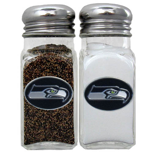 Salt and Pepper Shaker - Seattle Seahawks - Our NFL salt and pepper set is a great addition to any tailgating event or backyard BBQ. Officially licensed NFL product Licensee: Siskiyou Buckle .com
