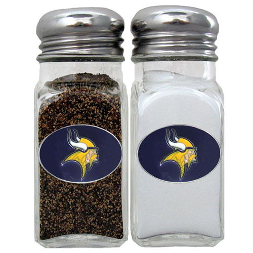 Salt & Pepper Shaker - Minnesota Vikings - Our NFL salt and pepper set is a great addition to any tailgating event or backyard BBQ. Officially licensed NFL product Licensee: Siskiyou Buckle .com