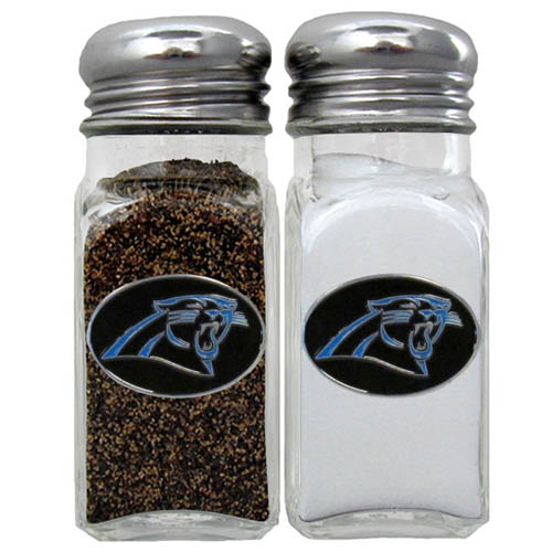 Salt & Pepper Shaker - Carolina Panthers - Our NFL salt and pepper set is a great addition to any tailgating event or backyard BBQ. Officially licensed NFL product Licensee: Siskiyou Buckle Thank you for visiting CrazedOutSports.com