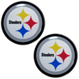 Pittsburgh Steelers Ear Gauge Pair 00G - Our officially licensed Pittsburgh Steelers ear plugs are double flared for a snug fit and the back screws on and off. They are made of quality 316L stainless steel and feature an inlaid team logo.