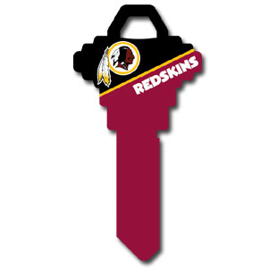 Schlage NFL House Key - Washington Redskins - NFL house keys are a great way to show team spirit while keeping keys organized.  keys can be cut to fit your home or office at the local hardware store or locksmith.  Style pre-fix FSK can be cut to fit Schlage keys (reference pre-fix FQK for key). Officially licensed NFL product Licensee: Siskiyou Buckle Thank you for visiting CrazedOutSports.com