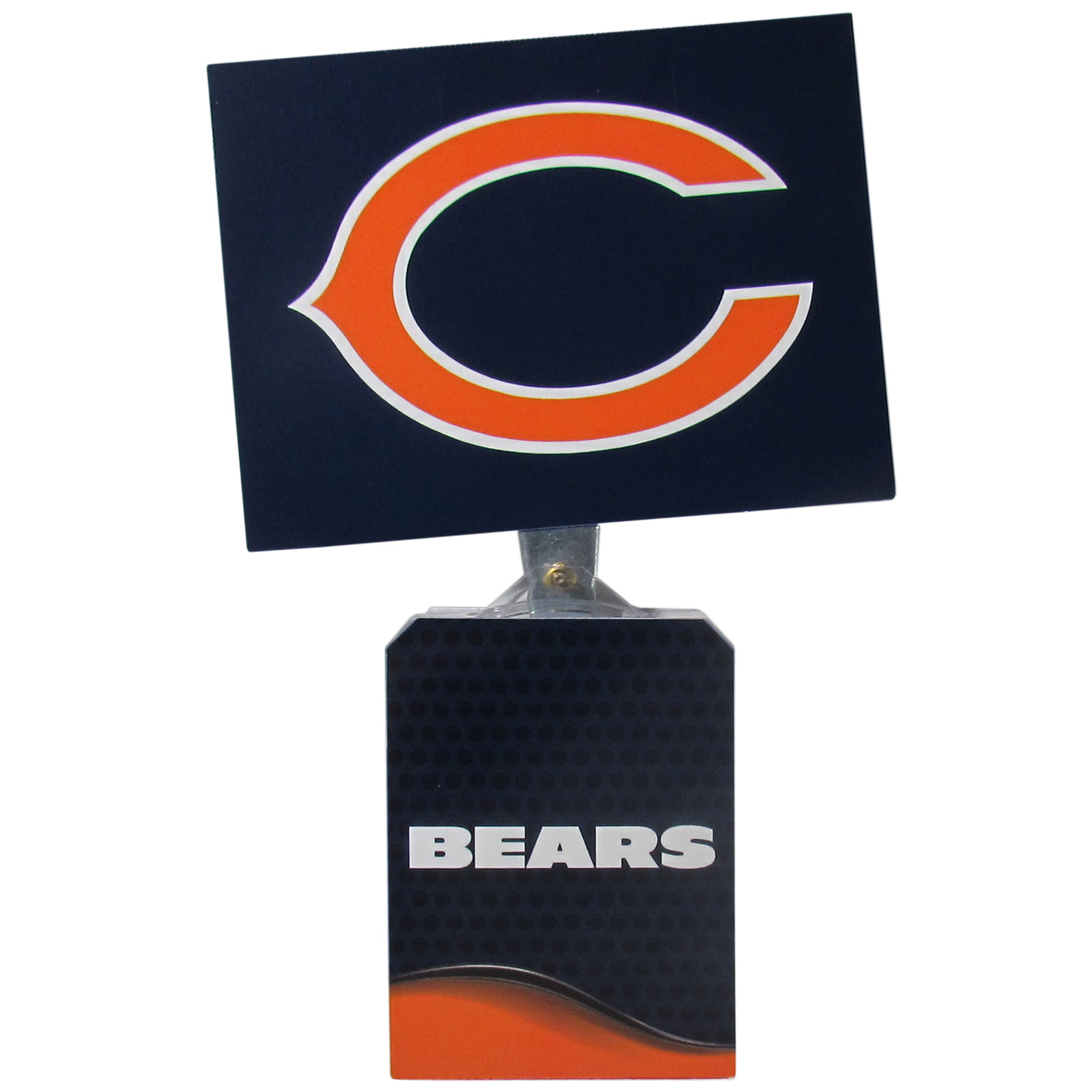 Chicago Bears Solar Flags - Get pumped up on the way to game with Siskiyou's Chicago Bears Chicago Bears Solar Flag that mounts to your dashboard or window. The in-motion solar flag also doubles as decoration for your tailgate or homegate! The base of the flag is 3 inches tall and the flag is 4 inches making the entire in-motion solar flag stand at 7 inches tall. Keep your spirit moving with your favorite team's Solar Flag.