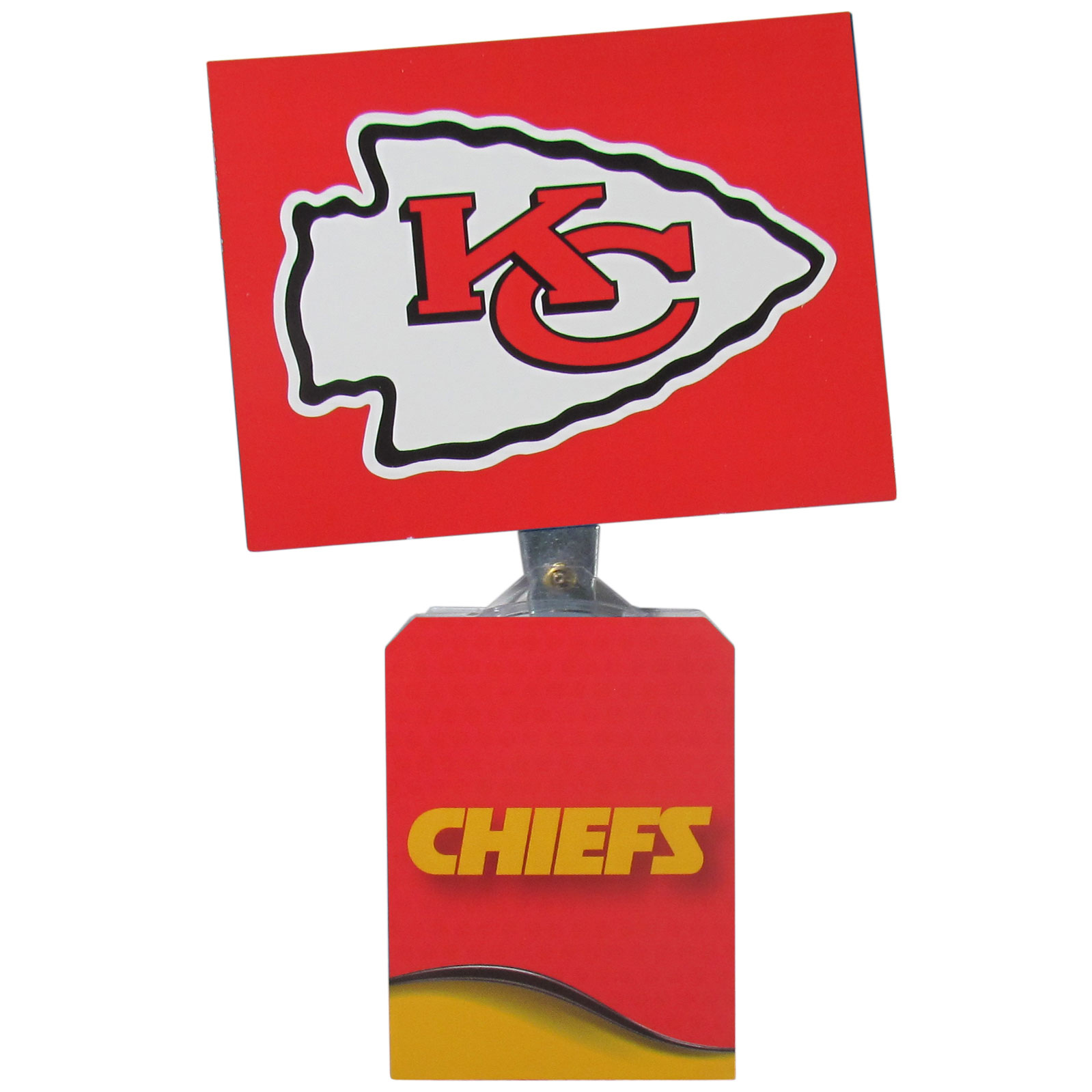 Kansas City Chiefs Solar Flags - Get pumped up on the way to game with Siskiyou's Chicago Bears Kansas City Chiefs Solar Flag that mounts to your dashboard or window. The in-motion solar flag also doubles as decoration for your tailgate or homegate! The base of the flag is 3 inches tall and the flag is 4 inches making the entire in-motion solar flag stand at 7 inches tall. Keep your spirit moving with your favorite team's Solar Flag.