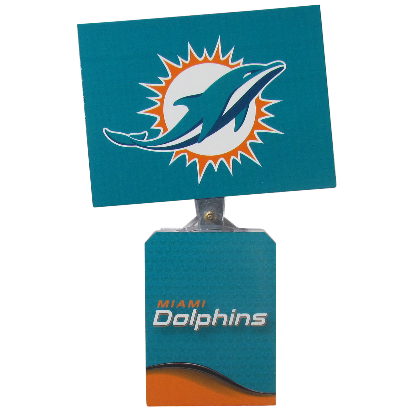 Miami Dolphins Solar Flags - Get pumped up on the way to game with Siskiyou's Chicago Bears Miami Dolphins Solar Flag that mounts to your dashboard or window. The in-motion solar flag also doubles as decoration for your tailgate or homegate! The base of the flag is 3 inches tall and the flag is 4 inches making the entire in-motion solar flag stand at 7 inches tall. Keep your spirit moving with your favorite team's Solar Flag.