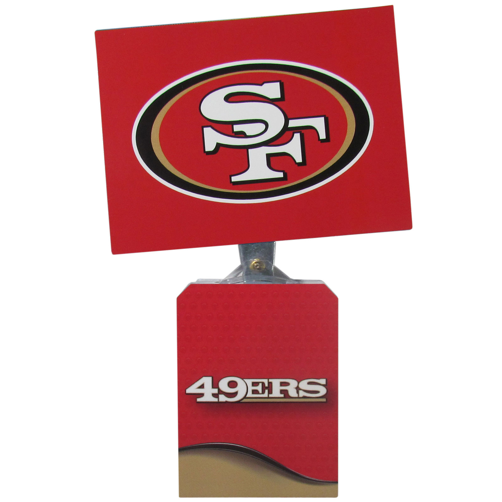 San Francisco 49ers Solar Flags - Get pumped up on the way to game with Siskiyou's Chicago Bears San Francisco 49ers Solar Flag that mounts to your dashboard or window. The in-motion solar flag also doubles as decoration for your tailgate or homegate! The base of the flag is 3 inches tall and the flag is 4 inches making the entire in-motion solar flag stand at 7 inches tall. Keep your spirit moving with your favorite team's Solar Flag.