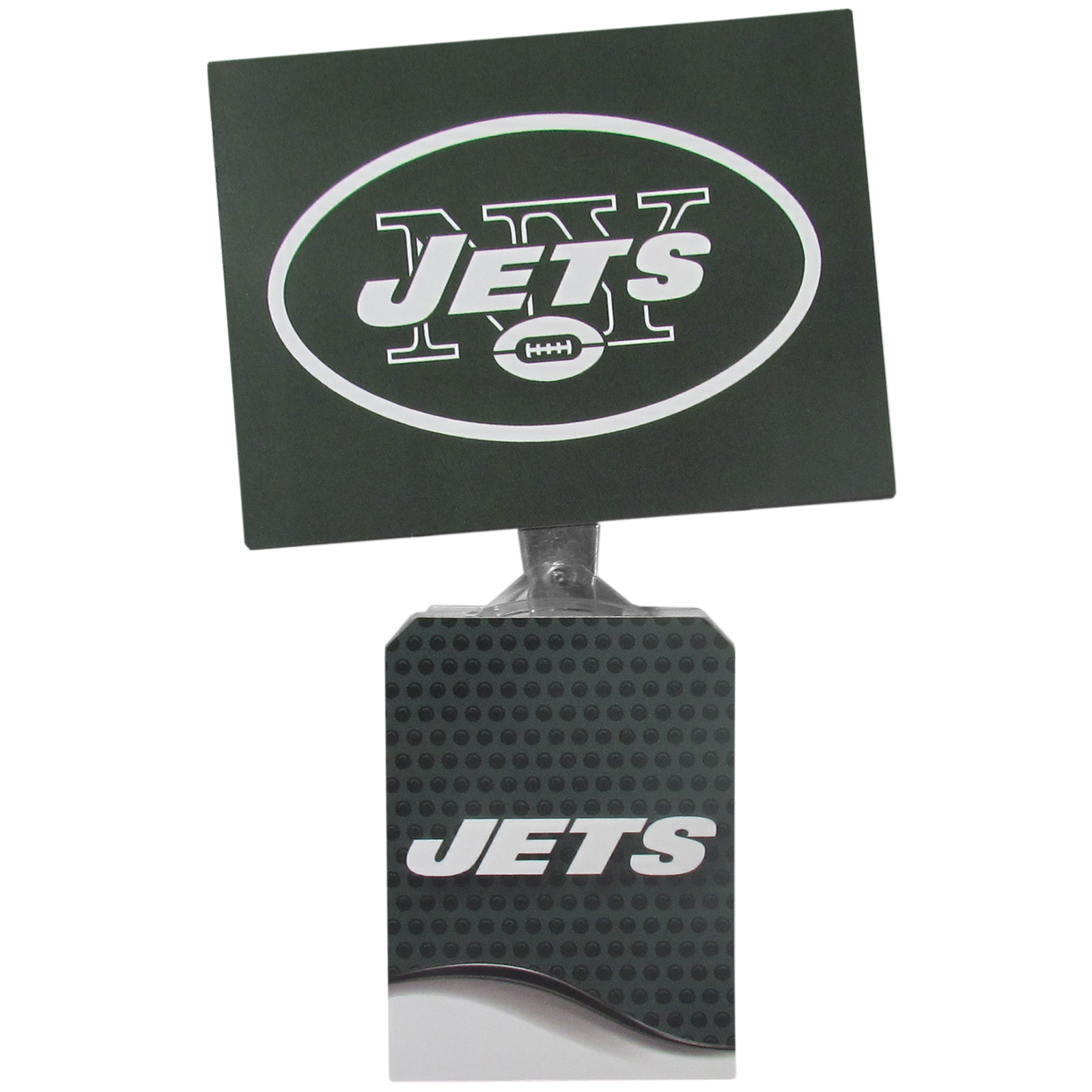 New York Jets Solar Flags - Get pumped up on the way to game with Siskiyou's Chicago Bears New York Jets Solar Flag that mounts to your dashboard or window. The in-motion solar flag also doubles as decoration for your tailgate or homegate! The base of the flag is 3 inches tall and the flag is 4 inches making the entire in-motion solar flag stand at 7 inches tall. Keep your spirit moving with your favorite team's Solar Flag.