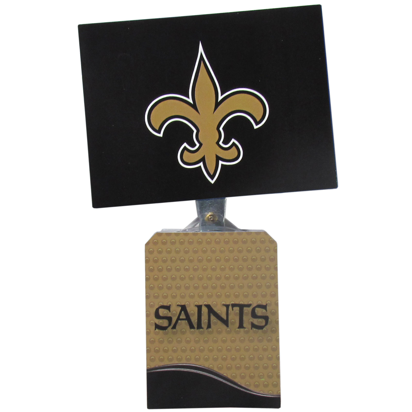 New Orleans Saints Solar Flags - Get pumped up on the way to game with Siskiyou's Chicago Bears New Orleans Saints Solar Flag that mounts to your dashboard or window. The in-motion solar flag also doubles as decoration for your tailgate or homegate! The base of the flag is 3 inches tall and the flag is 4 inches making the entire in-motion solar flag stand at 7 inches tall. Keep your spirit moving with your favorite team's Solar Flag.