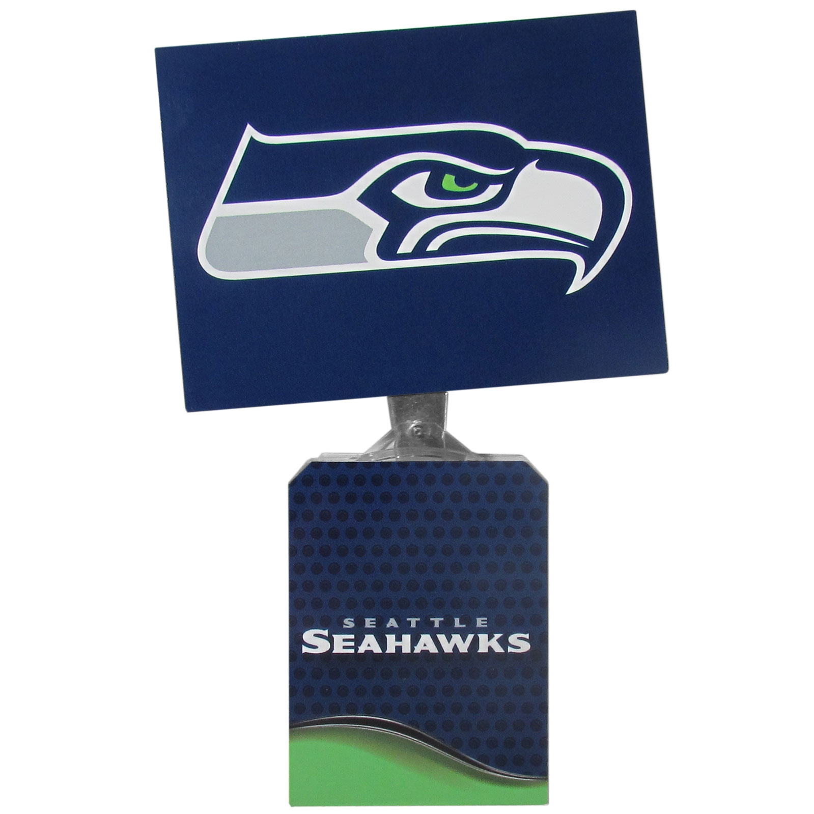 Seattle Seahawks Solar Flags - Get pumped up on the way to game with Siskiyou's Chicago Bears Seattle Seahawks Solar Flag that mounts to your dashboard or window. The in-motion solar flag also doubles as decoration for your tailgate or homegate! The base of the flag is 3 inches tall and the flag is 4 inches making the entire in-motion solar flag stand at 7 inches tall. Keep your spirit moving with your favorite team's Solar Flag.
