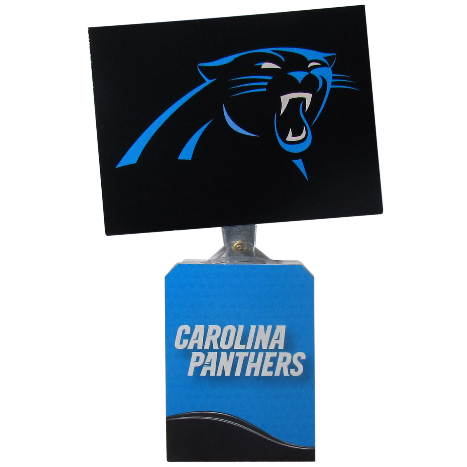 Carolina Panthers Solar Flags - Get pumped up on the way to game with Siskiyou's Chicago Bears Carolina Panthers Solar Flag that mounts to your dashboard or window. The in-motion solar flag also doubles as decoration for your tailgate or homegate! The base of the flag is 3 inches tall and the flag is 4 inches making the entire in-motion solar flag stand at 7 inches tall. Keep your spirit moving with your favorite team's Solar Flag.
