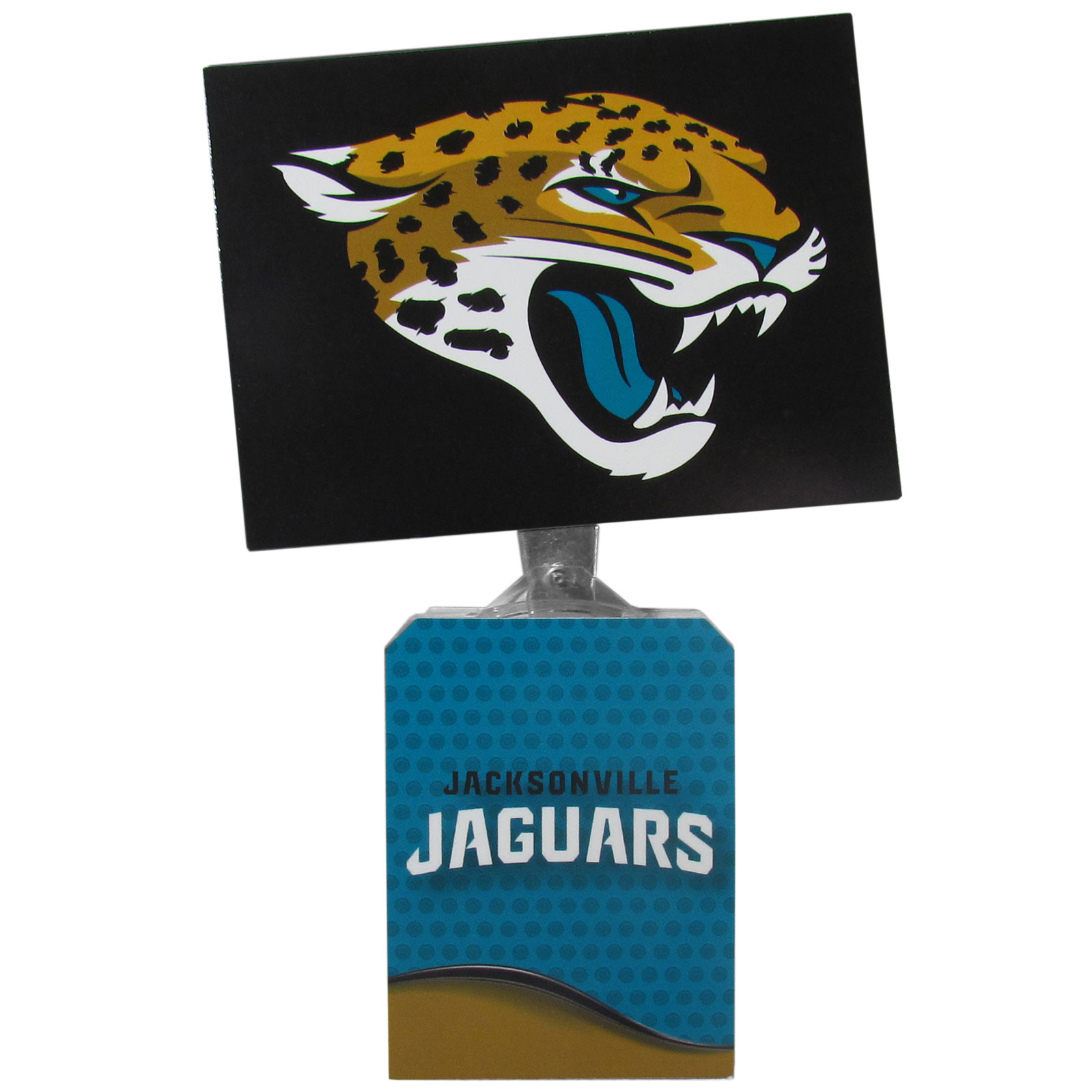 Jacksonville Jaguars Solar Flags - Get pumped up on the way to game with Siskiyou's Chicago Bears Jacksonville Jaguars Solar Flag that mounts to your dashboard or window. The in-motion solar flag also doubles as decoration for your tailgate or homegate! The base of the flag is 3 inches tall and the flag is 4 inches making the entire in-motion solar flag stand at 7 inches tall. Keep your spirit moving with your favorite team's Solar Flag.