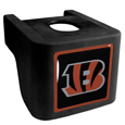 Cincinnati Bengals Shin Shield Hitch Cover - This unique hitch cover features a large Cincinnati Bengals logo. If you have ever hooked up a trailer or boat your have probably smashed your shins on the ball hitch a few times. This revolutionary shin shield hitch cover provides your much abused shins with the protection they deserve! The tough rubber hitch is rated to work with Class V hitch receivers hauling up to 17,000 gross trailer weight and 1,700 tongue weight allowing you to leave it on while hauling. Officially licensed NFL product Licensee: Siskiyou Buckle .com