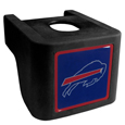 Buffalo Bills Shin Shield Hitch Cover - This unique hitch cover features a large Buffalo Bills logo. If you have ever hooked up a trailer or boat your have probably smashed your shins on the ball hitch a few times. This revolutionary shin shield hitch cover provides your much abused shins with the protection they deserve! The tough rubber hitch is rated to work with Class V hitch receivers hauling up to 17,000 gross trailer weight and 1,700 tongue weight allowing you to leave it on while hauling. Officially licensed NFL product Licensee: Siskiyou Buckle .com