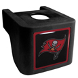 Tampa Bay Buccaneers Shin Shield Hitch Cover - This unique hitch cover features a large Tampa Bay Buccaneers logo. If you have ever hooked up a trailer or boat your have probably smashed your shins on the ball hitch a few times. This revolutionary shin shield hitch cover provides your much abused shins with the protection they deserve! The tough rubber hitch is rated to work with Class V hitch receivers hauling up to 17,000 gross trailer weight and 1,700 tongue weight allowing you to leave it on while hauling. Officially licensed NFL product Licensee: Siskiyou Buckle .com