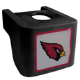 Arizona Cardinals Shin Shield Hitch Cover - This unique hitch cover features a large Arizona Cardinals logo. If you have ever hooked up a trailer or boat your have probably smashed your shins on the ball hitch a few times. This revolutionary shin shield hitch cover provides your much abused shins with the protection they deserve! The tough rubber hitch is rated to work with Class V hitch receivers hauling up to 17,000 gross trailer weight and 1,700 tongue weight allowing you to leave it on while hauling. Officially licensed NFL product Licensee: Siskiyou Buckle .com