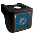 Miami Dolphins Shin Shield Hitch Cover - This unique hitch cover features a large Miami Dolphins logo. If you have ever hooked up a trailer or boat your have probably smashed your shins on the ball hitch a few times. This revolutionary shin shield hitch cover provides your much abused shins with the protection they deserve! The tough rubber hitch is rated to work with Class V hitch receivers hauling up to 17,000 gross trailer weight and 1,700 tongue weight allowing you to leave it on while hauling. Officially licensed NFL product Licensee: Siskiyou Buckle Thank you for visiting CrazedOutSports.com