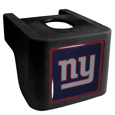New York Giants Shin Shield Hitch Cover - This unique hitch cover features a large New York Giants logo. If you have ever hooked up a trailer or boat your have probably smashed your shins on the ball hitch a few times. This revolutionary shin shield hitch cover provides your much abused shins with the protection they deserve! The tough rubber hitch is rated to work with Class V hitch receivers hauling up to 17,000 gross trailer weight and 1,700 tongue weight allowing you to leave it on while hauling. Officially licensed NFL product Licensee: Siskiyou Buckle .com