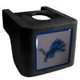 Detroit Lions Shin Shield Hitch Cover - This unique hitch cover features a large Detroit Lions logo. If you have ever hooked up a trailer or boat your have probably smashed your shins on the ball hitch a few times. This revolutionary shin shield hitch cover provides your much abused shins with the protection they deserve! The tough rubber hitch is rated to work with Class V hitch receivers hauling up to 17,000 gross trailer weight and 1,700 tongue weight allowing you to leave it on while hauling. Officially licensed NFL product Licensee: Siskiyou Buckle .com
