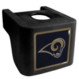 St. Louis Rams Shin Shield Hitch Cover - This unique hitch cover features a large St. Louis Rams logo. If you have ever hooked up a trailer or boat your have probably smashed your shins on the ball hitch a few times. This revolutionary shin shield hitch cover provides your much abused shins with the protection they deserve! The tough rubber hitch is rated to work with Class V hitch receivers hauling up to 17,000 gross trailer weight and 1,700 tongue weight allowing you to leave it on while hauling. Officially licensed NFL product Licensee: Siskiyou Buckle .com