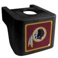 Washington Redskins Shin Shield Hitch Cover - This unique hitch cover features a large Washington Redskins logo. If you have ever hooked up a trailer or boat your have probably smashed your shins on the ball hitch a few times. This revolutionary shin shield hitch cover provides your much abused shins with the protection they deserve! The tough rubber hitch is rated to work with Class V hitch receivers hauling up to 17,000 gross trailer weight and 1,700 tongue weight allowing you to leave it on while hauling. Officially licensed NFL product Licensee: Siskiyou Buckle Thank you for visiting CrazedOutSports.com