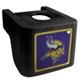 Minnesota Vikings Shin Shield Hitch Cover - This unique hitch cover features a large Minnesota Vikings logo. If you have ever hooked up a trailer or boat your have probably smashed your shins on the ball hitch a few times. This revolutionary shin shield hitch cover provides your much abused shins with the protection they deserve! The tough rubber hitch is rated to work with Class V hitch receivers hauling up to 17,000 gross trailer weight and 1,700 tongue weight allowing you to leave it on while hauling. Officially licensed NFL product Licensee: Siskiyou Buckle .com