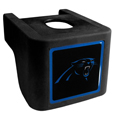 Carolina Panthers Shin Shield Hitch Cover - This unique hitch cover features a large Carolina Panthers logo. If you have ever hooked up a trailer or boat your have probably smashed your shins on the ball hitch a few times. This revolutionary shin shield hitch cover provides your much abused shins with the protection they deserve! The tough rubber hitch is rated to work with Class V hitch receivers hauling up to 17,000 gross trailer weight and 1,700 tongue weight allowing you to leave it on while hauling. Officially licensed NFL product Licensee: Siskiyou Buckle Thank you for visiting CrazedOutSports.com