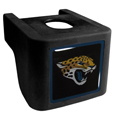 Jacksonville Jaguars Shin Shield Hitch Cover - This unique hitch cover features a large Jacksonville Jaguars logo. If you have ever hooked up a trailer or boat your have probably smashed your shins on the ball hitch a few times. This revolutionary shin shield hitch cover provides your much abused shins with the protection they deserve! The tough rubber hitch is rated to work with Class V hitch receivers hauling up to 17,000 gross trailer weight and 1,700 tongue weight allowing you to leave it on while hauling. Officially licensed NFL product Licensee: Siskiyou Buckle Thank you for visiting CrazedOutSports.com
