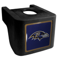 Baltimore Ravens Shin Shield Hitch Cover - This unique hitch cover features a large Baltimore Ravens logo. If you have ever hooked up a trailer or boat your have probably smashed your shins on the ball hitch a few times. This revolutionary shin shield hitch cover provides your much abused shins with the protection they deserve! The tough rubber hitch is rated to work with Class V hitch receivers hauling up to 17,000 gross trailer weight and 1,700 tongue weight allowing you to leave it on while hauling. Officially licensed NFL product Licensee: Siskiyou Buckle .com