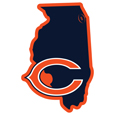 Chicago Bears Home State 11 Inch Magnet