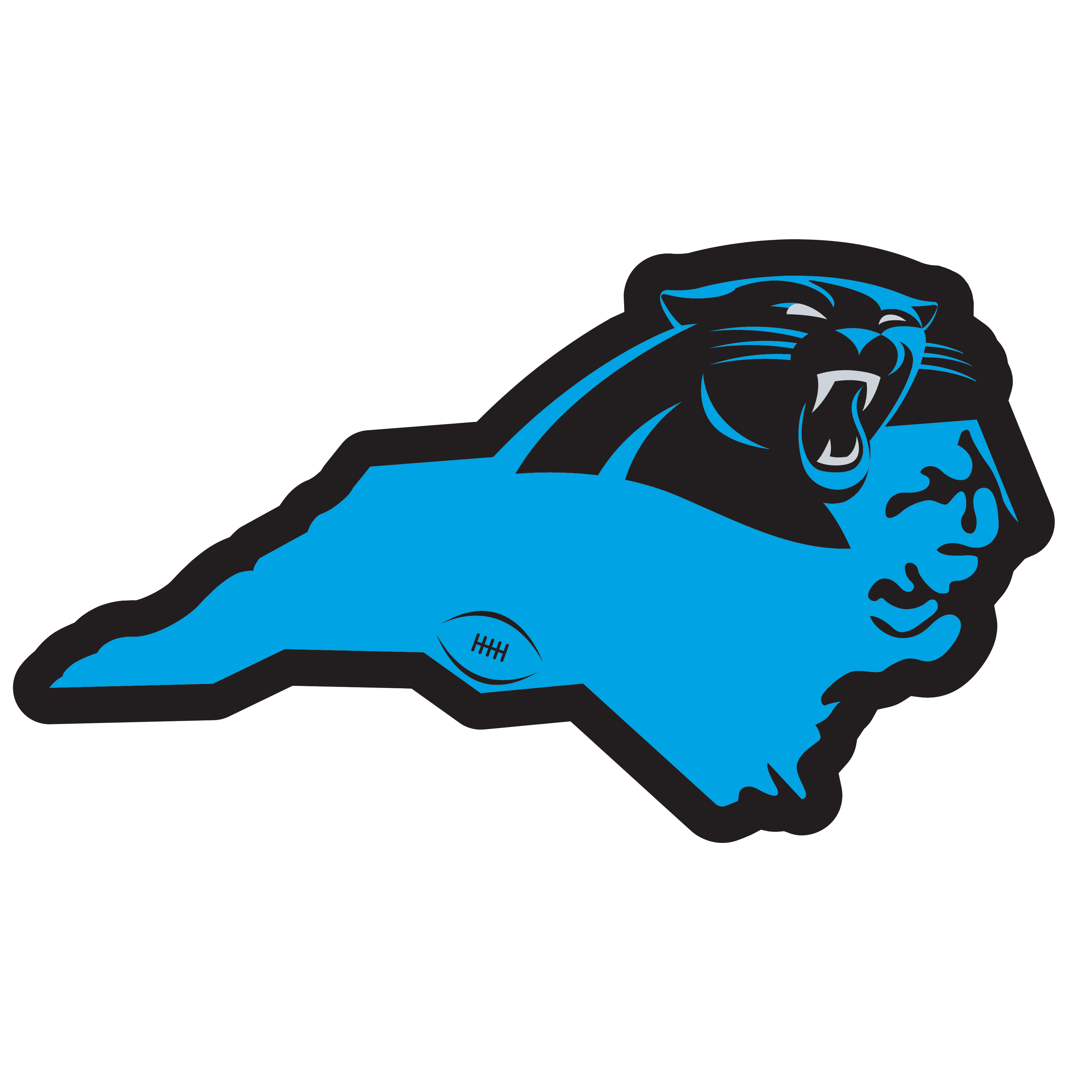 Carolina Panthers Home State 11 Inch Magnet - Whether you are caravaning to the game or having a tailgate party make sure you car is wearing its fan gear with our extra large, 11 inch Carolina Panthers home state magnets. These striking magnets can be easily placed on for game day and removed without he residue left by decals. The design features a bright state outline with the location of the team highlighted with a football and a large team logo.